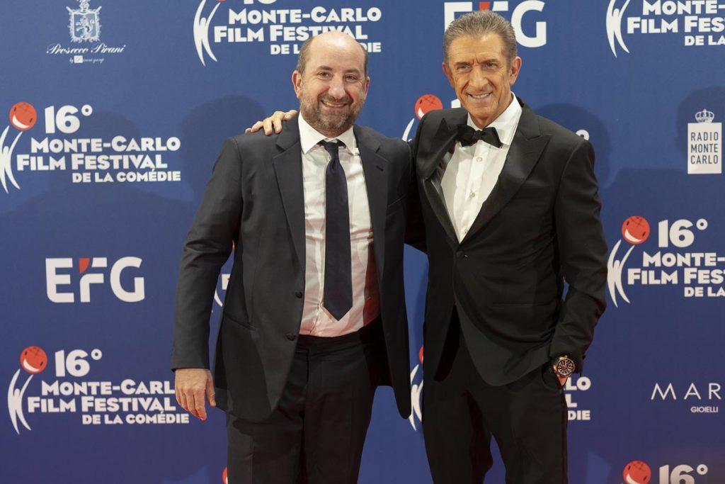 Antonio Albanse sul Red Carpet con ezio Greggio