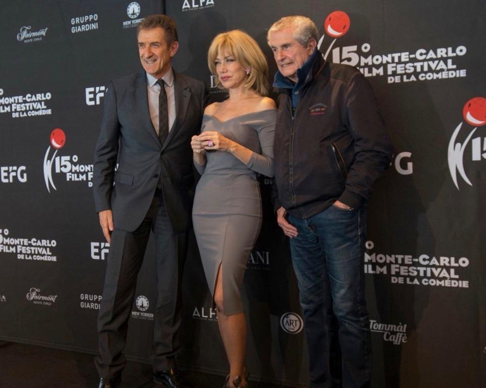 Con Nancy Brilli e Claude Lelouch