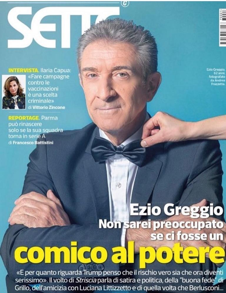Ezio Greggio sulla copertina di SETTE