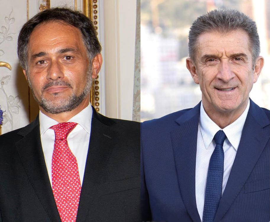 Ezio Greggio con l ambasciatore S.E. Giulio Alaimo