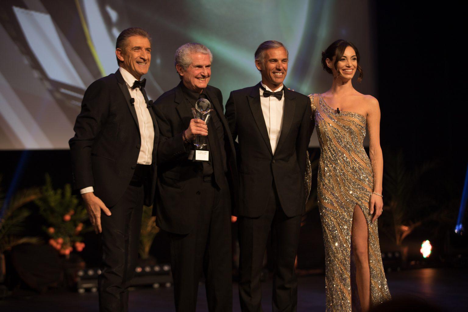 Ezio con Claude Lelouch, Paul Belmondo e Lorella Boccia