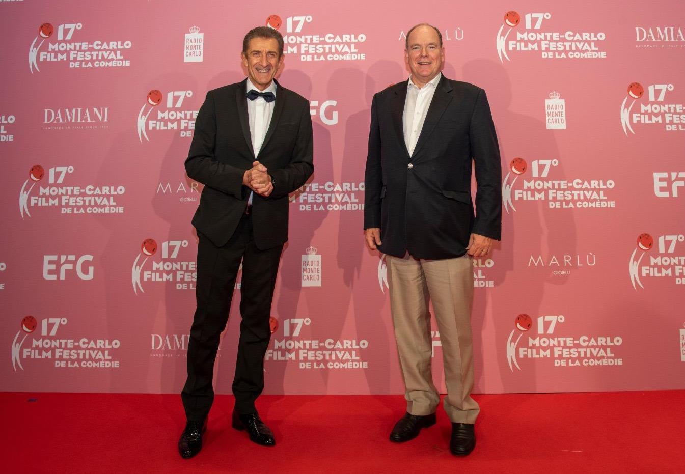 Ezio con S.A.S. il Principe Alberto di Monaco