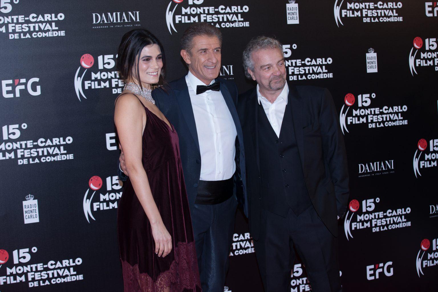 Ezio con Valeria Solarino e Giovanni Veronesi