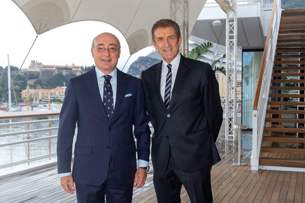 Ezio Greggio con S.E. l'Ambasciatore Cristiano Gallo