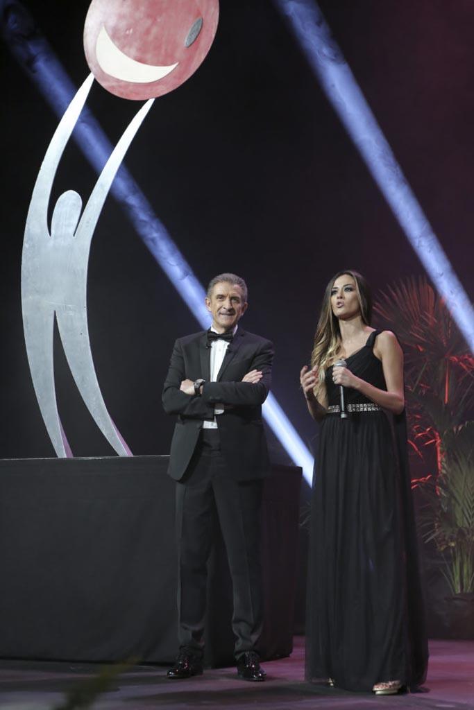 Ezio Greggio e Giorgia Palmas