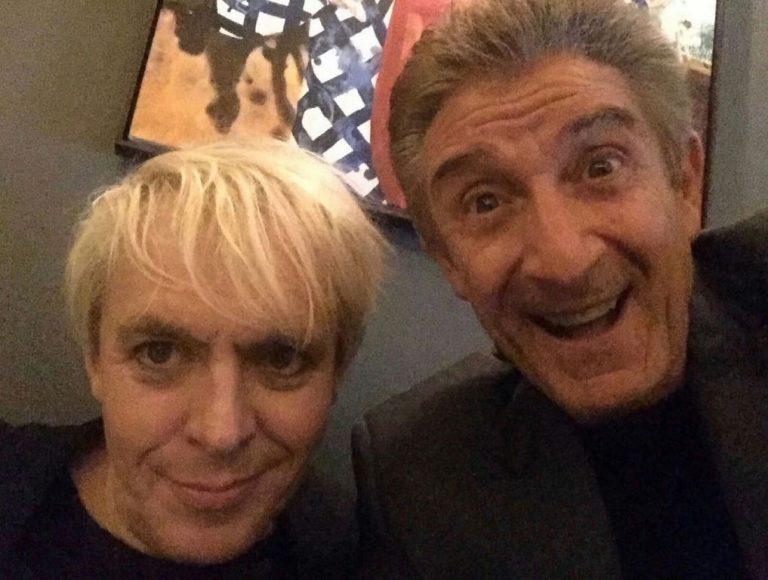 Nick Rhodes dei Duran Duran con Ezio Greggio