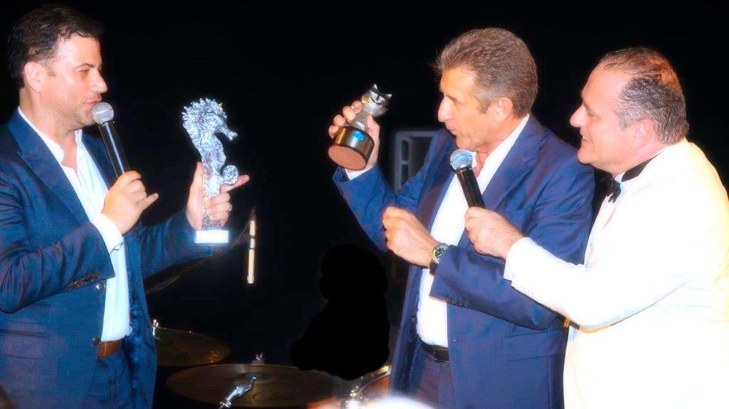 Jimmy Kimmel premiato con Ezio Greggio da Pascal Vicedomini