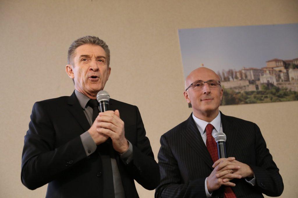 Greggio e il prof. Fabio Mosca