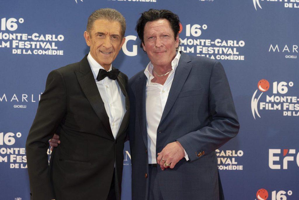 Michael Madsen assieme a Ezio Greggio al 16 Montecarlo Film festival