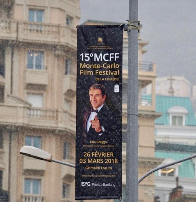 Neve a Monte-Carlo nel primo giorno del 15° Monte-Carlo Film Festival