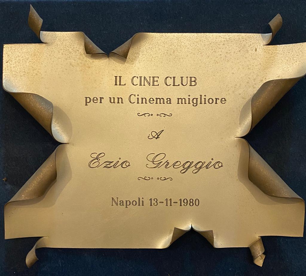 Premio Cineclub per un Cinema migliore a Ezio Greggio Napoli 13 novembre 1980