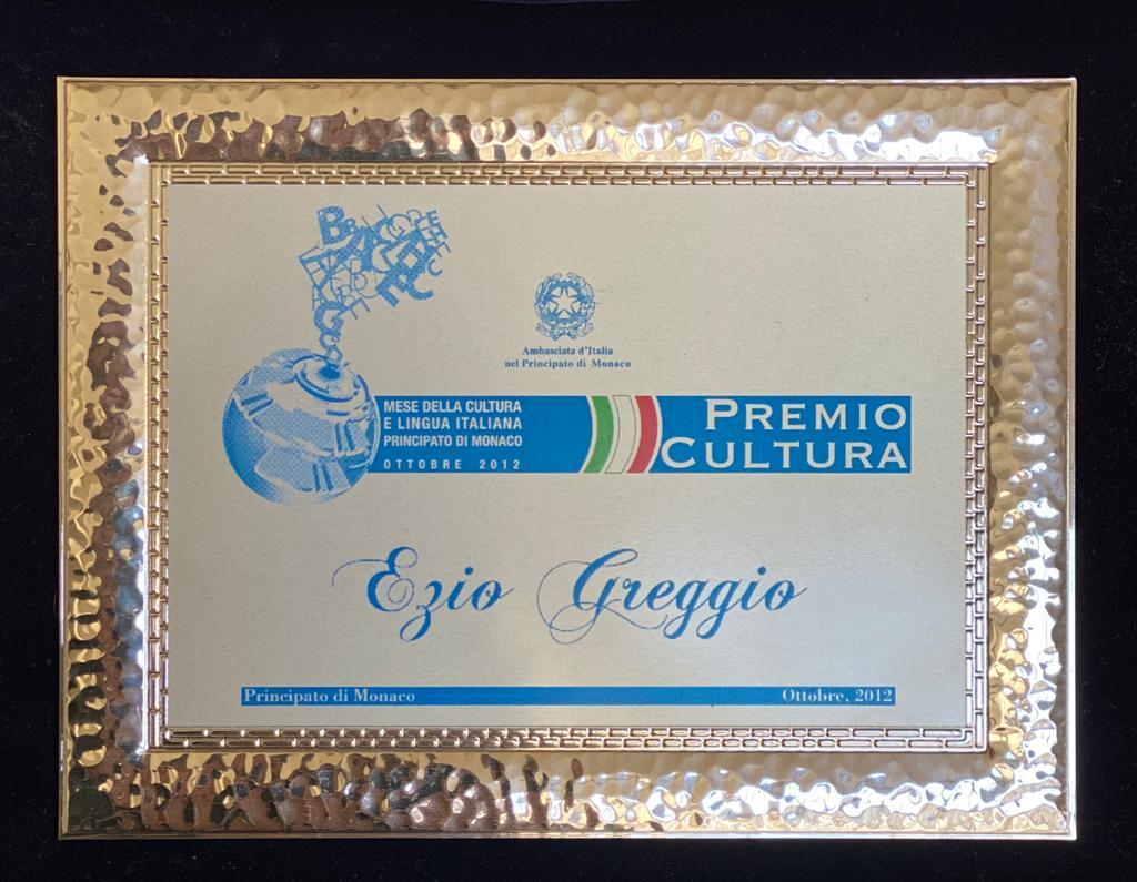Premio Cultura Principato di Monaco - Ambasciata Italiana ottobre 2012