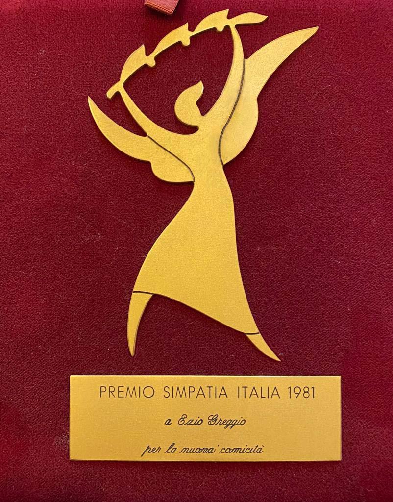 Premio Simpatia Italia 1981 a Ezio Greggio per la nuova comicità
