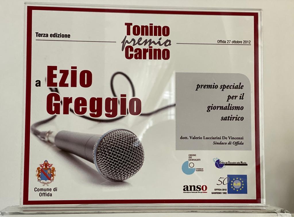 Premio giornalistico Tonino Carino 27 ottobre 2012