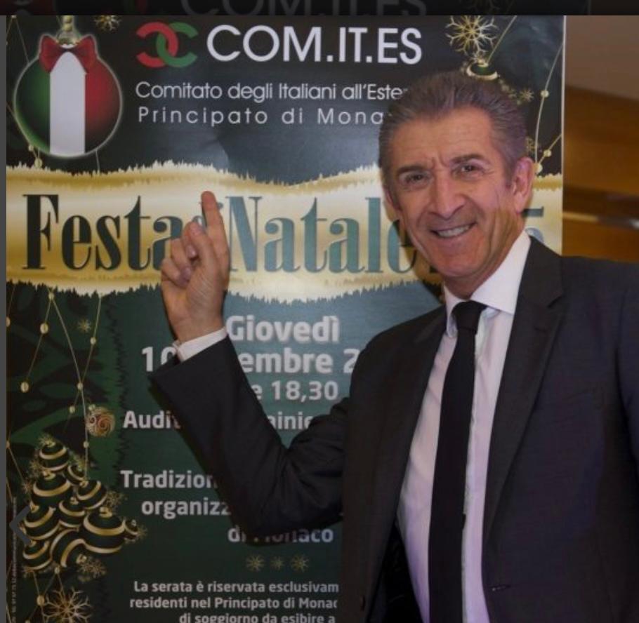 Ezio Greggio Presidente del Comites di Monaco