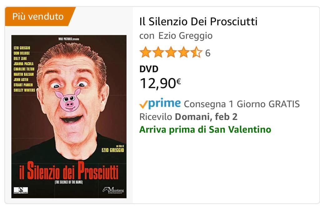 il silenzio dei prosciutti dvd