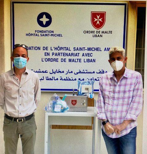 nella foto Thierry Zakhia Fondaz. Osp. S.Michel e il Prof. Amine Haddad direttore medico Ordine di Malta Libano